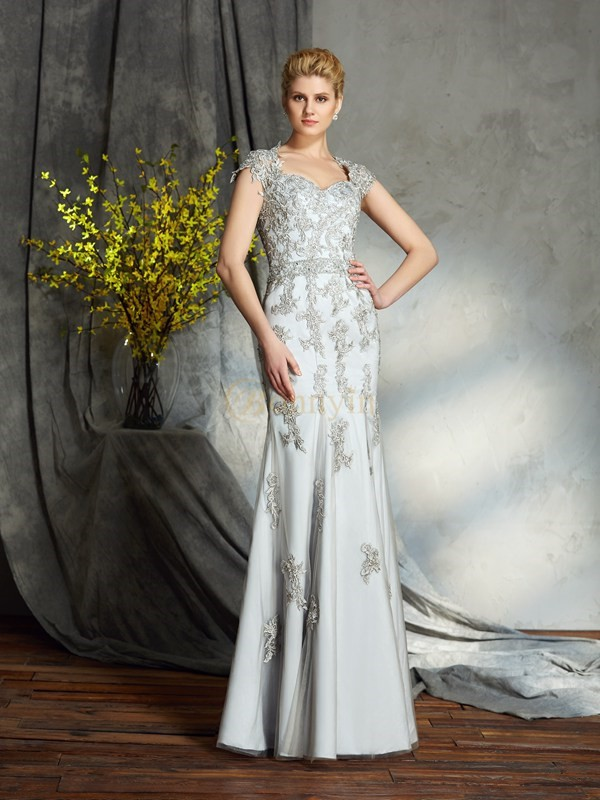 Satin Sweetheart Sheath/Column Floor-Length Mother of the Bride Dresses