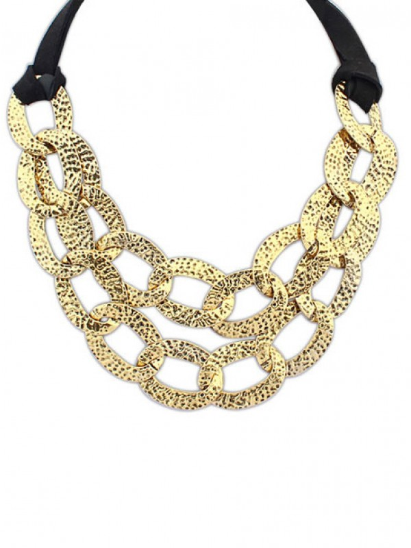 Occident Hyperbolic Metallic Hollow Personality Hot Sale Necklace