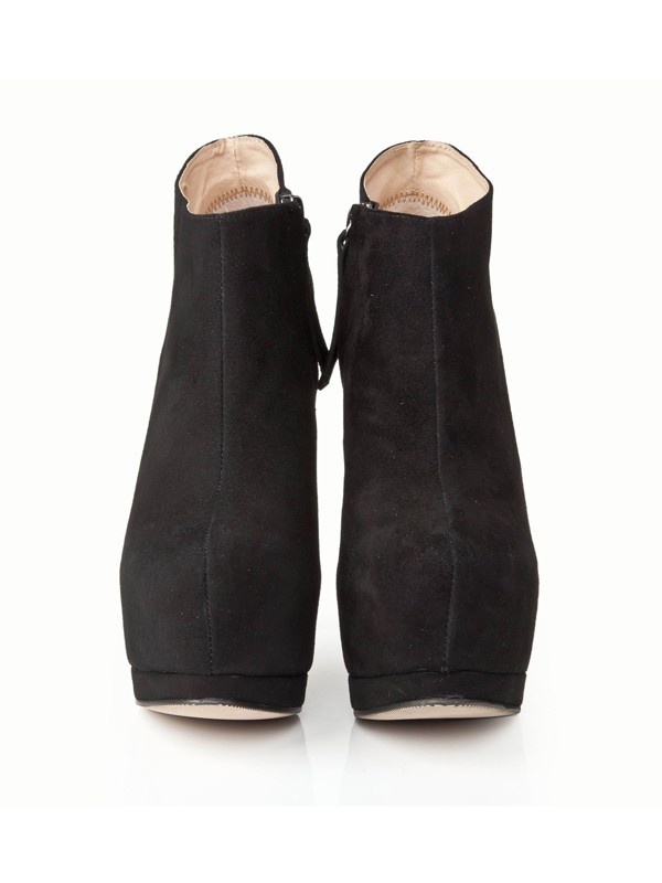 Bonnyin Black Suede High Heels