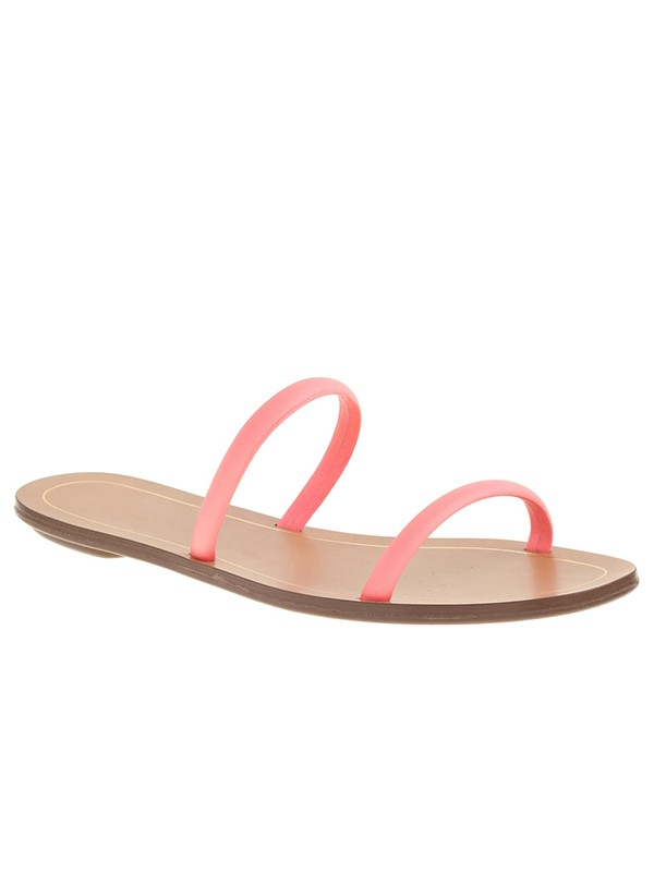 Bonnyin Pink Sheepskin Flat Sandals