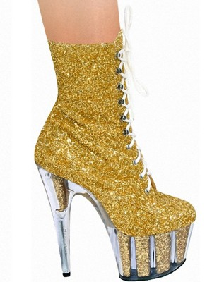 Women's Stiletto Heel Glitter Closed Toe Boots