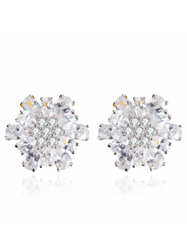 New Alloy With Zircon Women Earrings