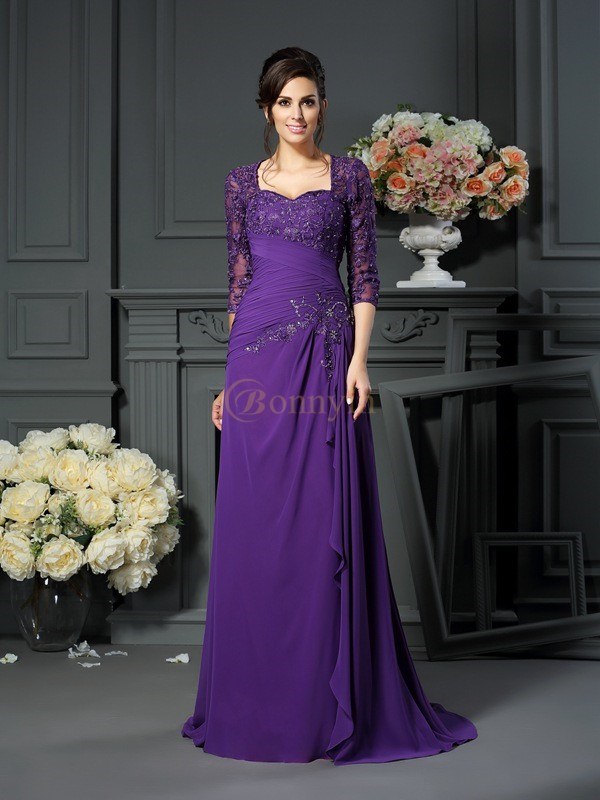 Regency Chiffon Sweetheart A-Line/Princess Floor-Length Mother of the Bride Dresses