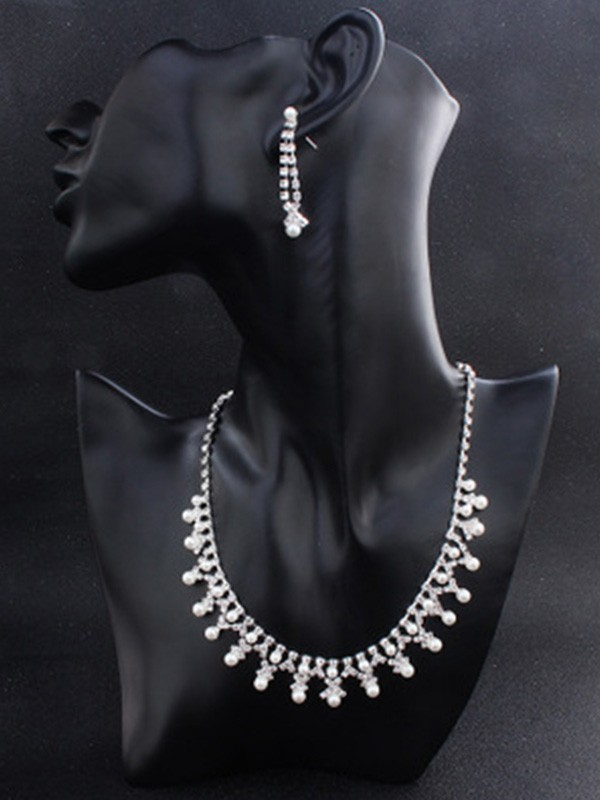 Attractive Alloy Hot Sale Jewelry Set With Pearl