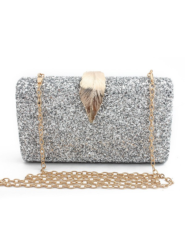 Luxurious Synthetic Leather Evening/Party Handbags