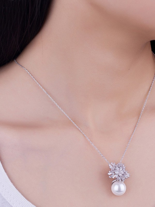 Charming Copper With Pearl Hot Sale Necklaces